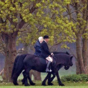 המלכה אליזבת ממשיכה לרכב על סוסים – גם בגיל 93