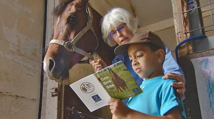ילדים מקריאים לסוסים
