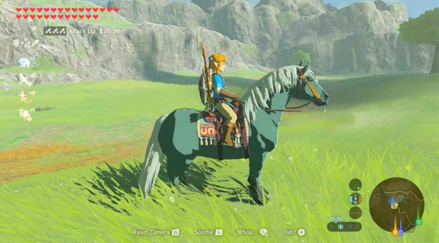 רכיבה על סוסים במשחק זלדה