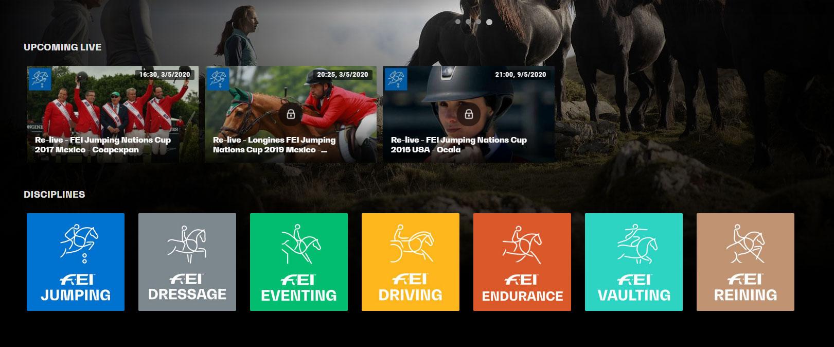 שידורי תחרויות סוסים בחינם