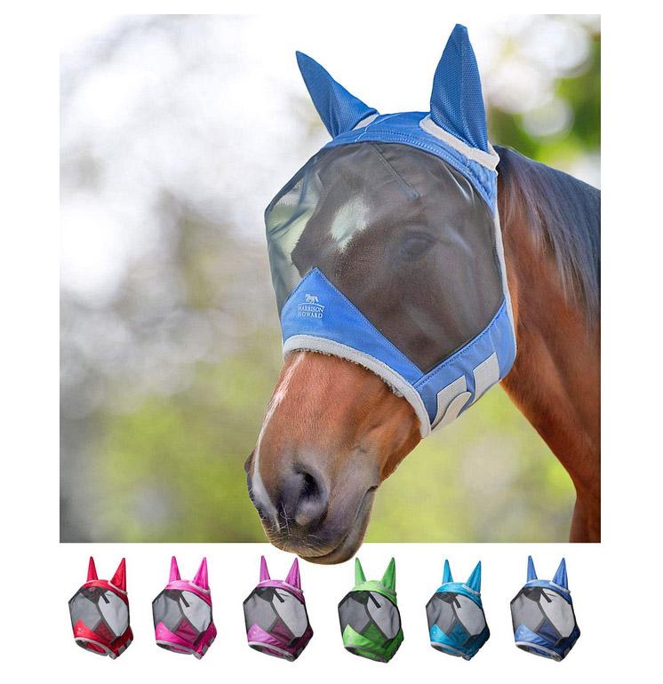 מסיכת זבובים לסוס בעיצוב אנטומי